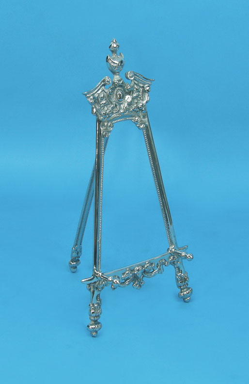 Decorative Pewter Display Easel
