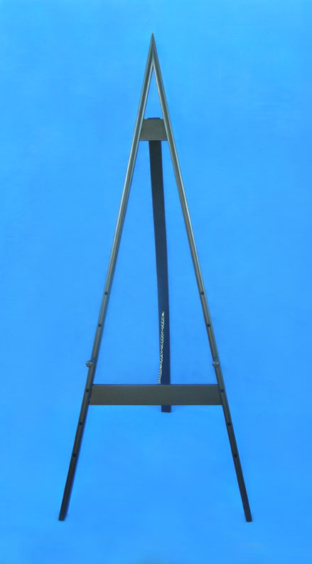 "58"" adjustable black wood easel"