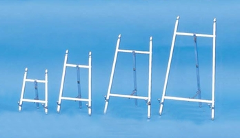 chrome display easels by amron