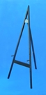 black wood floor easel by amron